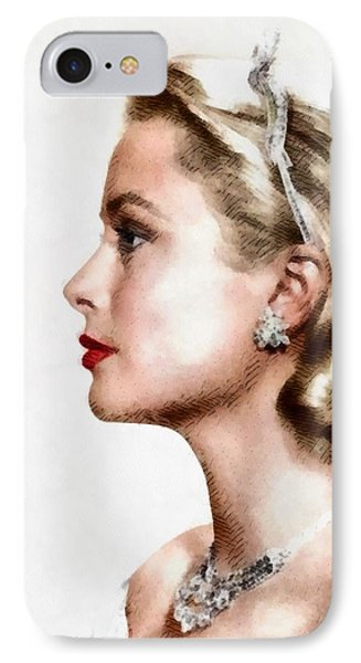 Grace Kelly iPhone 7 Case - Grace Kelly, Actress And Princess by John Springfield