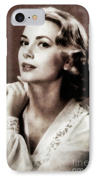 Grace Kelly iPhone 7 Case - Grace Kelly, Actress, By Js by John Springfield