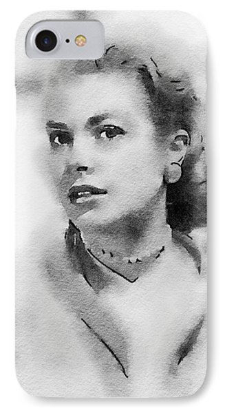 Grace Kelly By John Springfield IPhone Case by John Springfield
