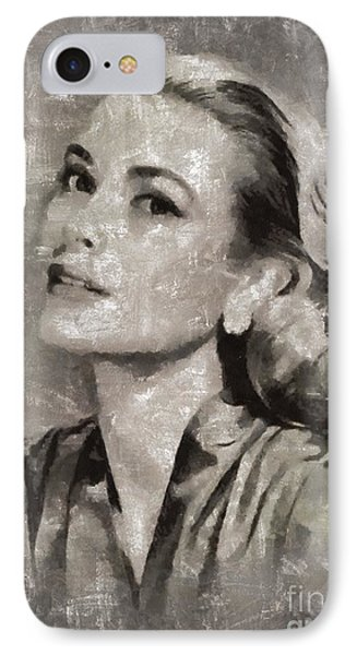 Grace Kelly iPhone 7 Case - Grace Kelly By Mary Bassett by Mary Bassett