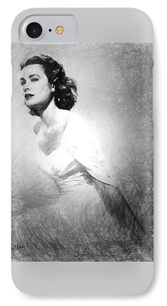 Grace Kelly Sketch IPhone 7 Case by Quim Abella