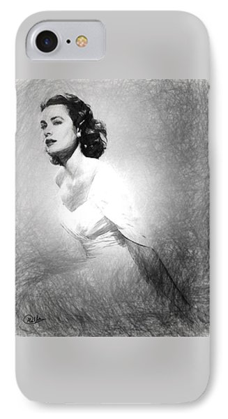 Grace Kelly Sketch IPhone Case by Quim Abella