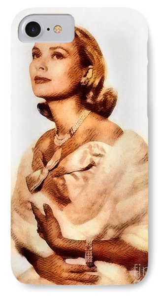 Grace Kelly, Vintage Actress By John Springfield IPhone Case by John Springfield