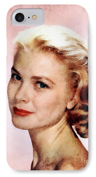 Grace Kelly iPhone 7 Case - Grace Kelly, Vintage Actress by John Springfield