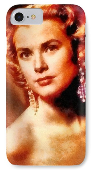 Grace Kelly iPhone 7 Case - Grace Kelly, Vintage Hollywood Actress by Frank Falcon