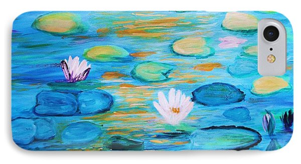Graceful Pond From The Water Series IPhone Case by Donna Dixon