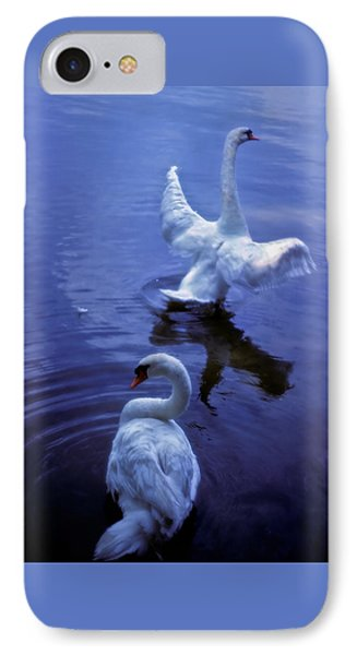Graceful Swans IPhone Case by Marie Hicks