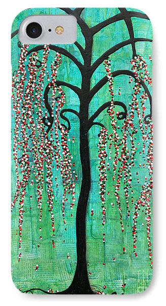 Graceful Willow Print Phone Case by Natalie Briney