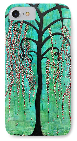 IPhone Case featuring the mixed media Graceful Willow Print by Natalie Briney