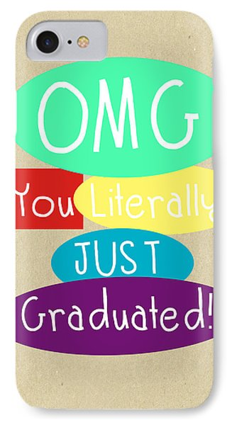 Graduation Card IPhone Case by Linda Woods