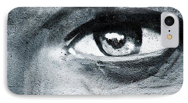IPhone Case featuring the painting Graffiti Eye by Yurix Sardinelly