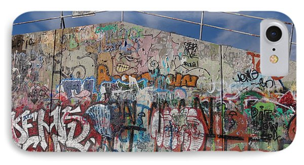 IPhone Case featuring the photograph Graffiti Wall by Julia Wilcox