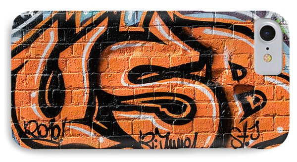 IPhone Case featuring the painting Graffiti Wall.usb by Yurix Sardinelly