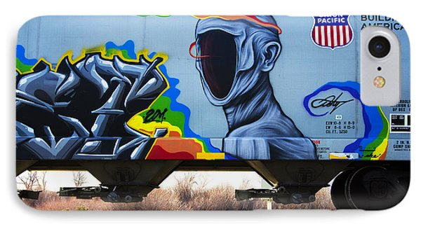 Grafitti Art Riding The Rails 2 IPhone Case by Bob Christopher