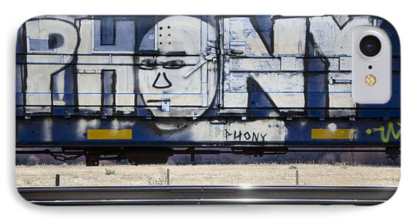 Grafitti Art Riding The Rails 4 IPhone Case by Bob Christopher
