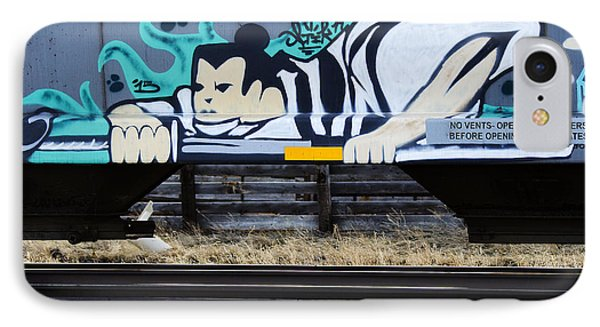 Grafitti Art Riding The Rails IPhone Case by Bob Christopher