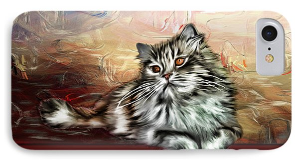 IPhone Case featuring the painting Grafitti Kitty by Tyler Robbins