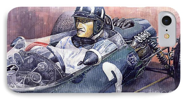 Graham Hill Brm P261 1965 IPhone Case by Yuriy  Shevchuk