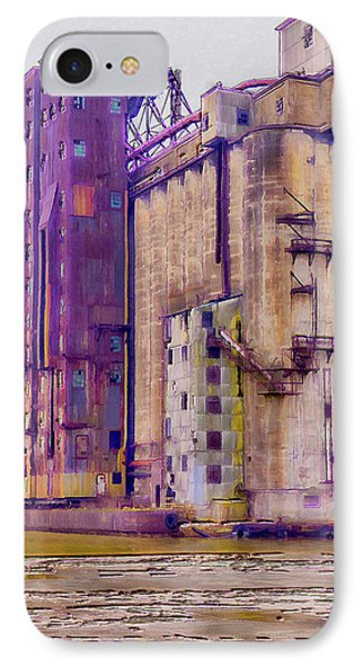 Grain Elevator - Buffalo Ny IPhone Case by Leslie Montgomery