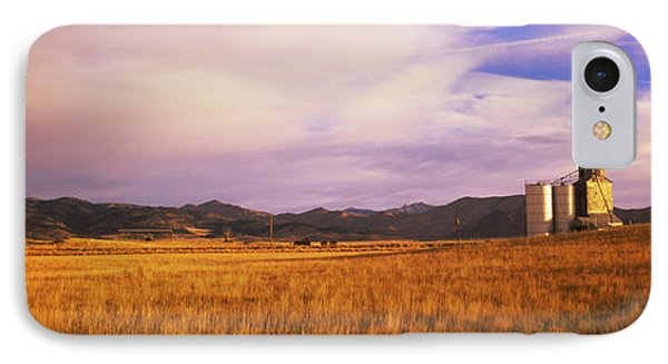 Grain Elevator Fairfield Id IPhone Case by Panoramic Images
