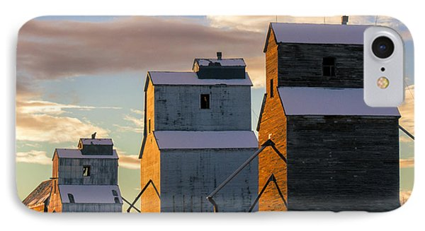 Grainery Row Square IPhone Case by Todd Klassy