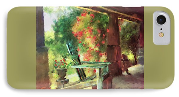 Gramma's Front Porch IPhone Case by Lois Bryan