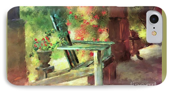 IPhone Case featuring the digital art Gramma's Front Porch by Lois Bryan