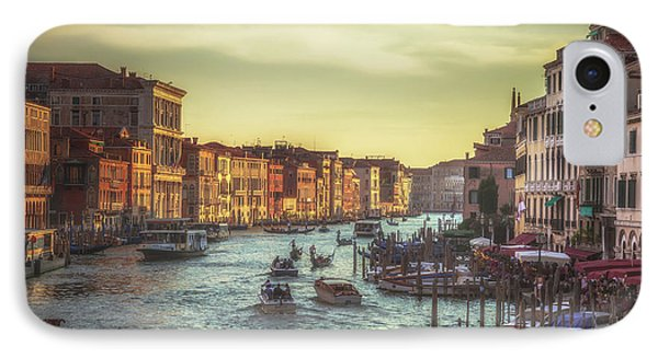Grand Canal As The Sun Is Setting IPhone Case by Chris Fletcher
