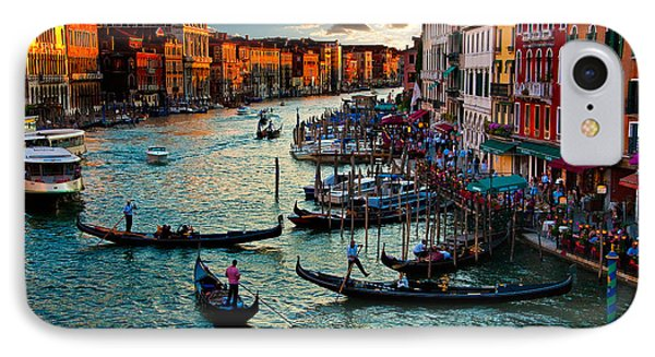 Grand Canal Sunset Phone Case by Harry Spitz