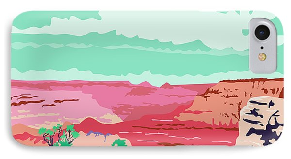 Grand Canyon Arizona Wpa IPhone Case