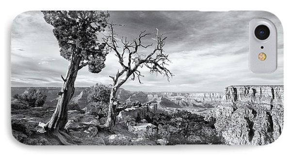 Grand Canyon - Monochrome IPhone Case by Darren White