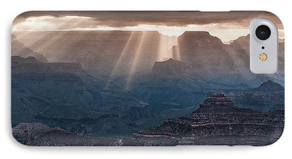 IPhone Case featuring the photograph Grand Canyon Morning Light Show Pano by William Lee