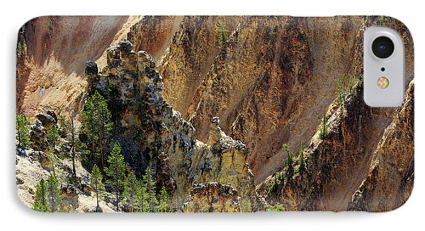 Grand Canyon Of The Yellowstone From North Rim Drive Phone Case by Louise Heusinkveld