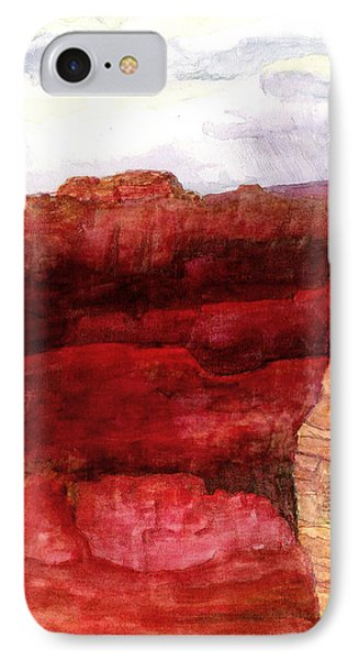 IPhone Case featuring the painting Grand Canyon S Rim by Eric Samuelson