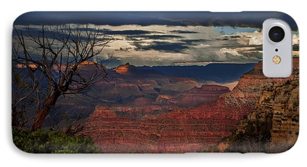 IPhone Case featuring the photograph Grand Canyon Storm Clouds by John A Rodriguez
