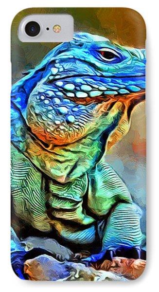 Grand Cayman Iguana Portrait  IPhone Case