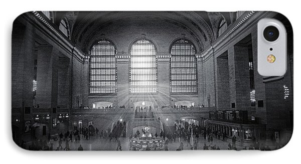 Grand Central Monochrome  IPhone Case by Jessica Jenney