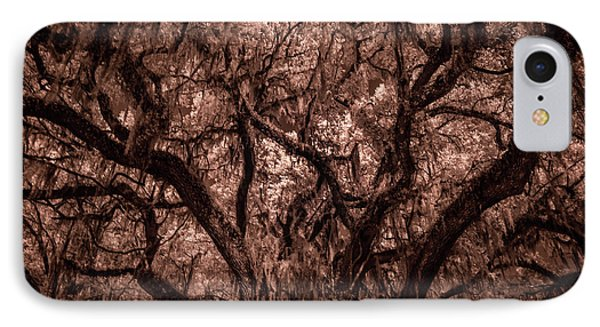 IPhone Case featuring the photograph Grand Daddy Oak Tree In Infrared by Louis Ferreira