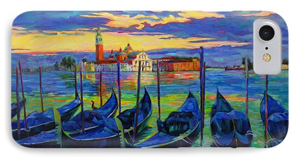 IPhone Case featuring the painting Grand Finale In Venice by Chris Brandley