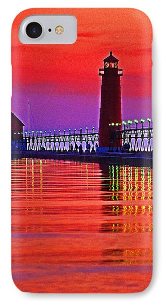 Grand Haven Lighthouse Phone Case by Dennis Cox