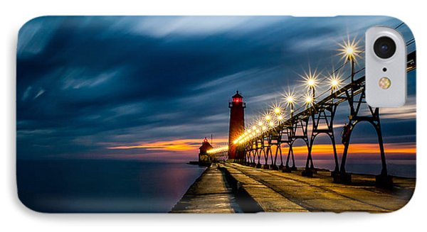 Grand Haven Lighthouse IPhone Case by Larry Carr