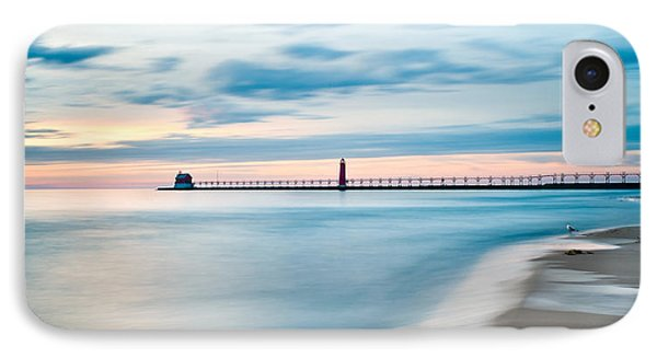 Grand Haven Pier - Smooth Waters IPhone Case by Larry Carr