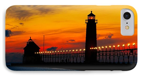 Grand Haven Sunset IPhone Case by Nick Zelinsky