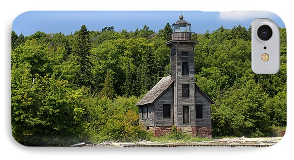 Grand Island Lighthouse 4 IPhone Case by Mary Bedy