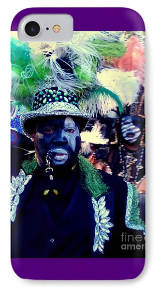 Grand Marshall Of The Zulu Parade Mardi Gras 2016 In New Orleans IPhone Case by Michael Hoard