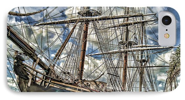 IPhone Case featuring the photograph Grand Old Sailing Ship by Roberta Byram