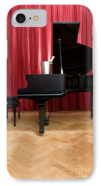 Grand Piano With A Champagne Cooler Phone Case by Corepics