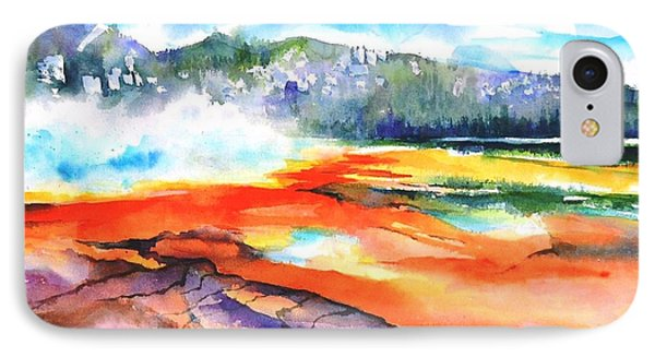 Grand Prismatic Hot Spring IPhone Case by Betty M M Wong