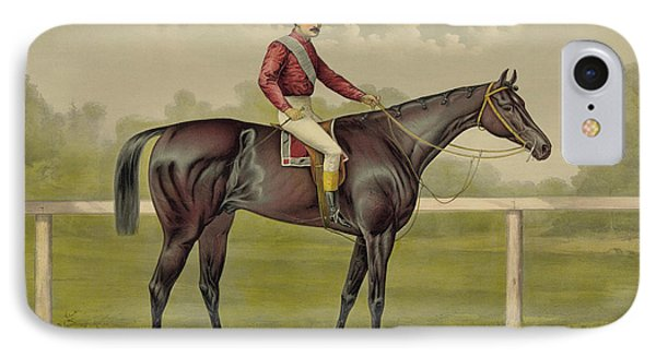 Grand Racer Kingston - Vintage Horse Racing IPhone Case by War Is Hell Store
