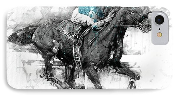 American Pharoah Grand Slam 15 IPhone Case by Gary Bodnar